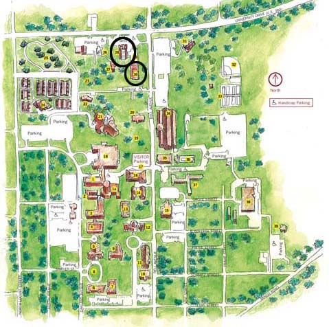 Guinn and Stark Residence Halls Map
