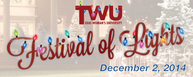 TWU Festival of LIghts. December 2, 2014