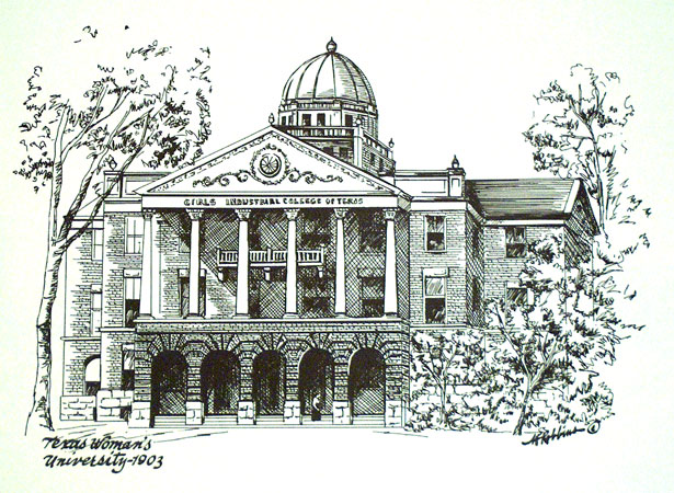 Old Main Sketch - Robbins