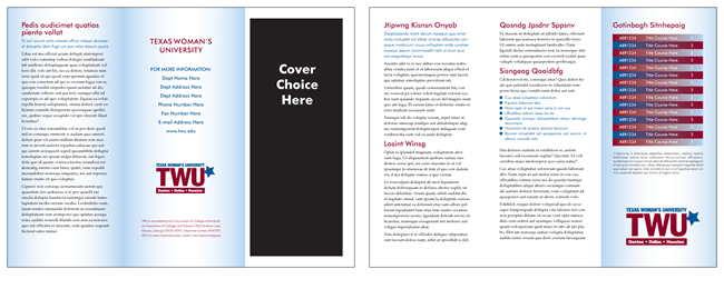 TWU Department Brochure Template A Outer and Inner panels