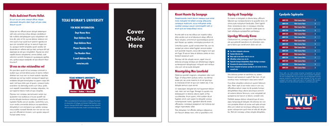 TWU Department Brochure B outer and inner panels