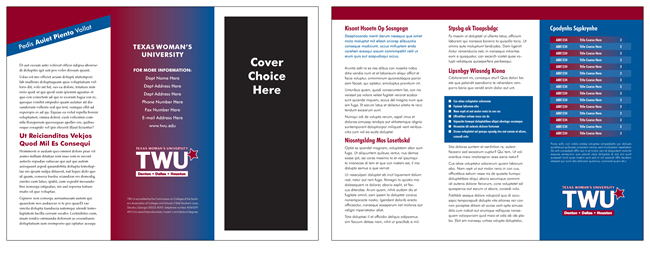 TWU Department Brochure Template C outer and inner panels