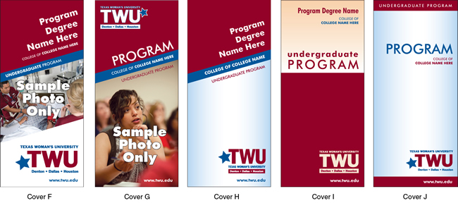 TWU Department Brochure Covers F - J