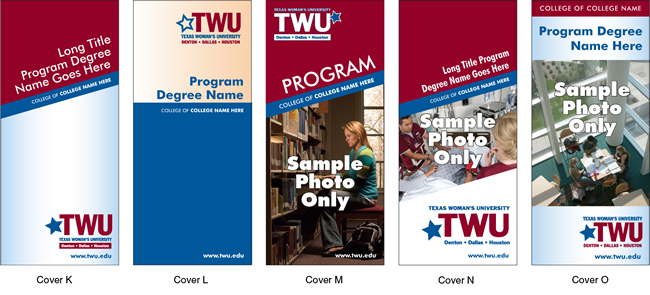 TWU Department Brochures Covers K - O