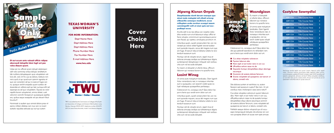 TWU Department Brochure Template D outer and inner panels