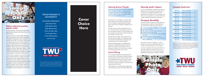 TWU Department Brochure Template E outer and inner panels