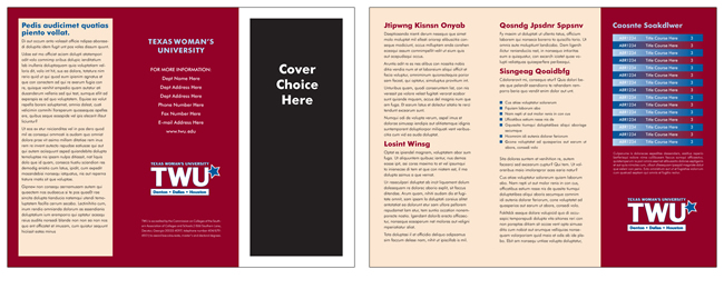 TWU Department Brochure Template G outer and inner panels
