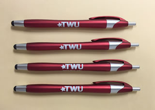 TWU pens with stylus tips