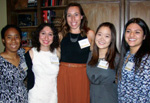 From left: Shana Hansford (TWU), Michalea Cortes (TWU), Sarah Wilcox (Baylor University), Soo Min Park (TWU), and Angelica Garcia (TWU). Not pictured: Whitney Hain (TWU).