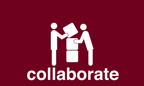graphic for 'collaborate'