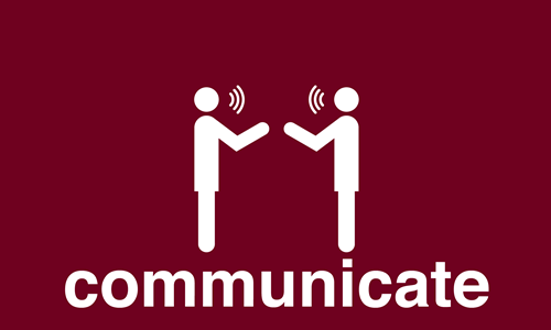graphic for 'communicate'