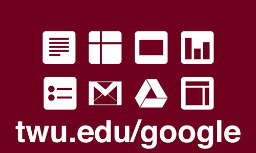 graphic for 'twu.edu/google'