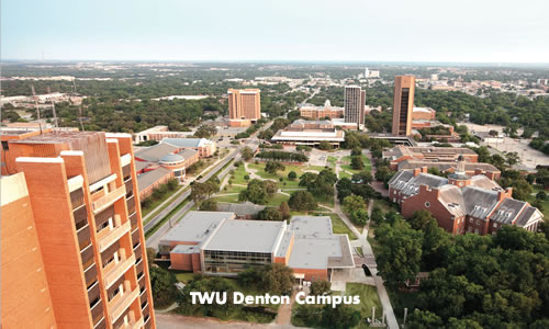 the TWU Denton campus