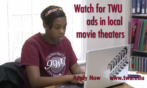 Watch for TWU ads in local movie theaters