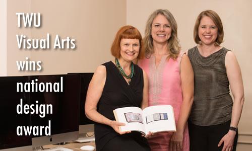 Photo of award winning TWU Visual Arts faculty
