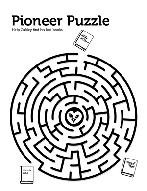 Pioneer Puzzle maze game with Oakley.