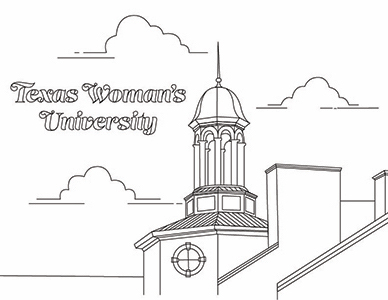 A view of the TWU library coloring sheet.
