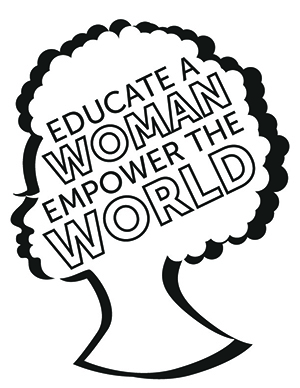 Educate a Woman, Empower the World text coloring sheet.