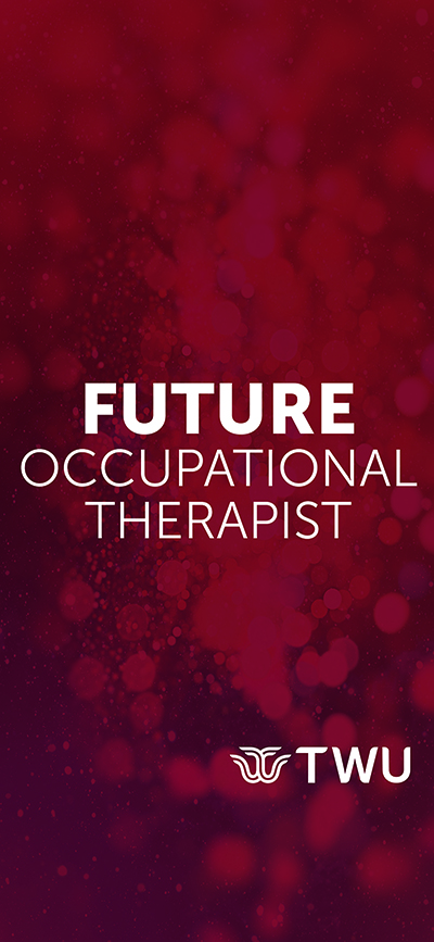 Maroon Future Occupational Therapist phone wallpaper.
