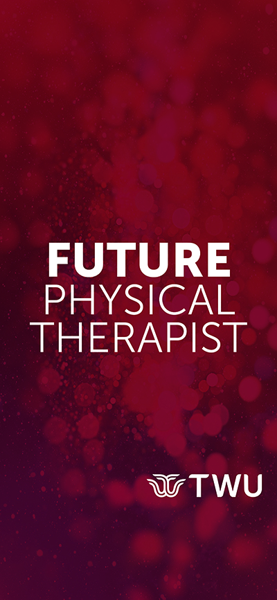 Maroon Future Physical Therapist phone wallpaper.