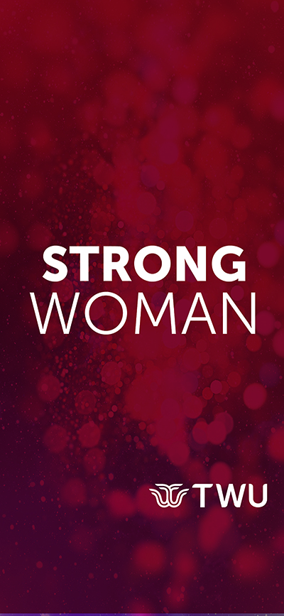 Maroon Strong Woman phone wallpaper.