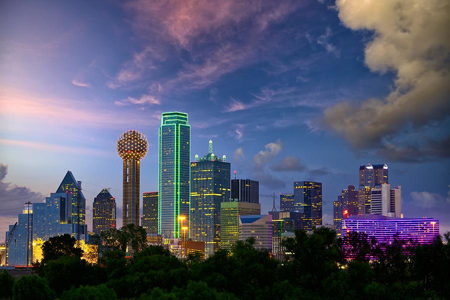 Orizzonte della città di Dallas.