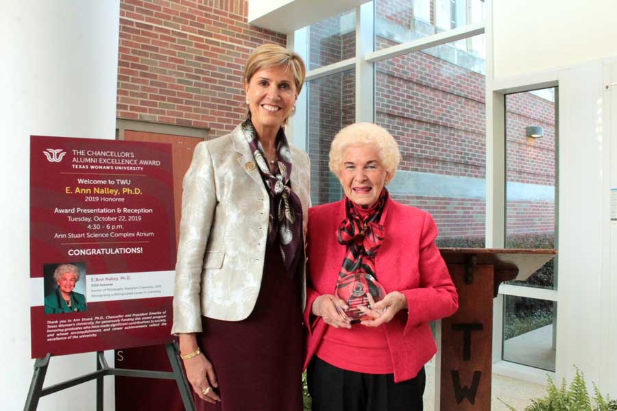Chancellor Feyten and E. Ann Nalley.