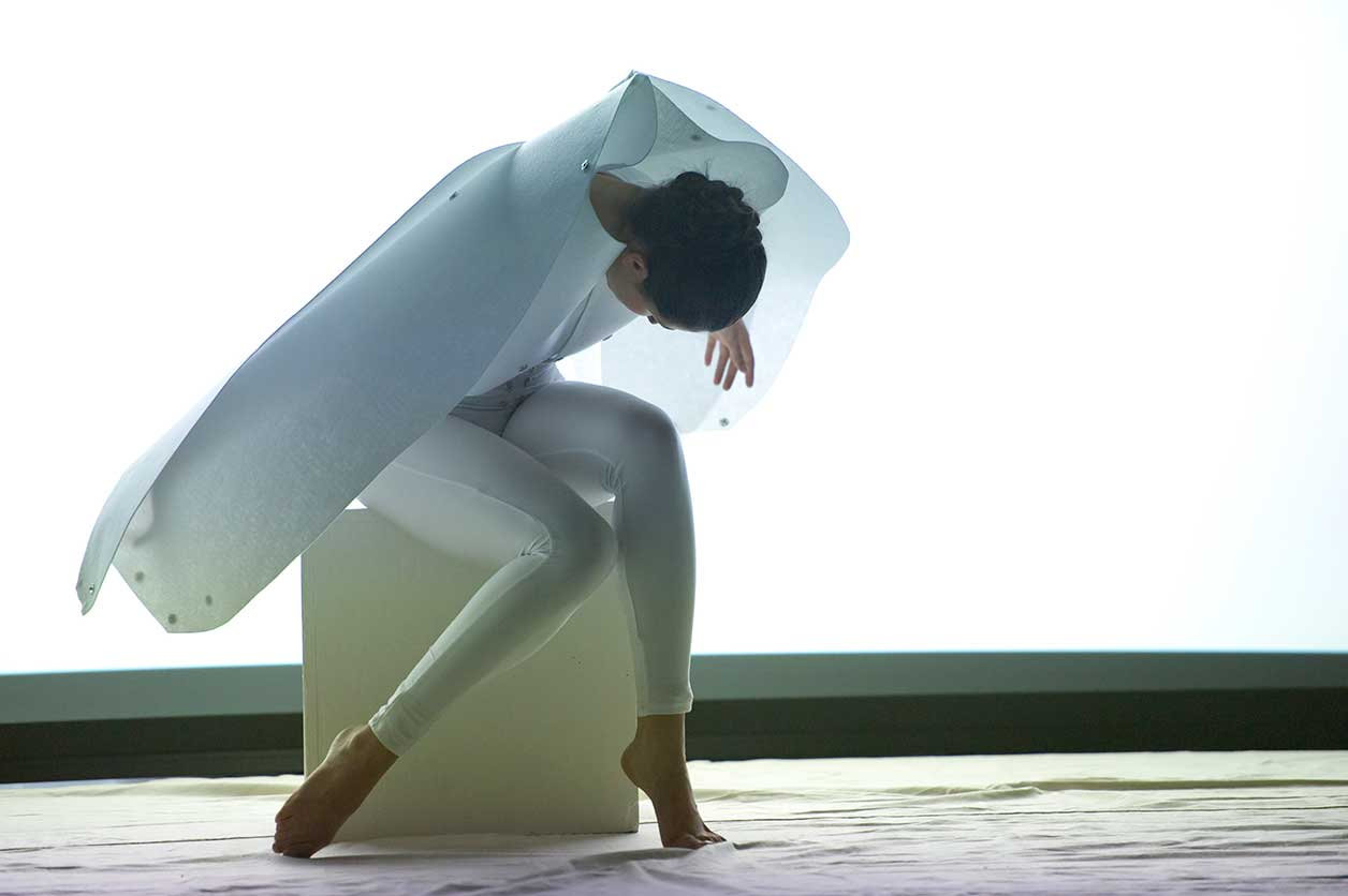 A dance student performs