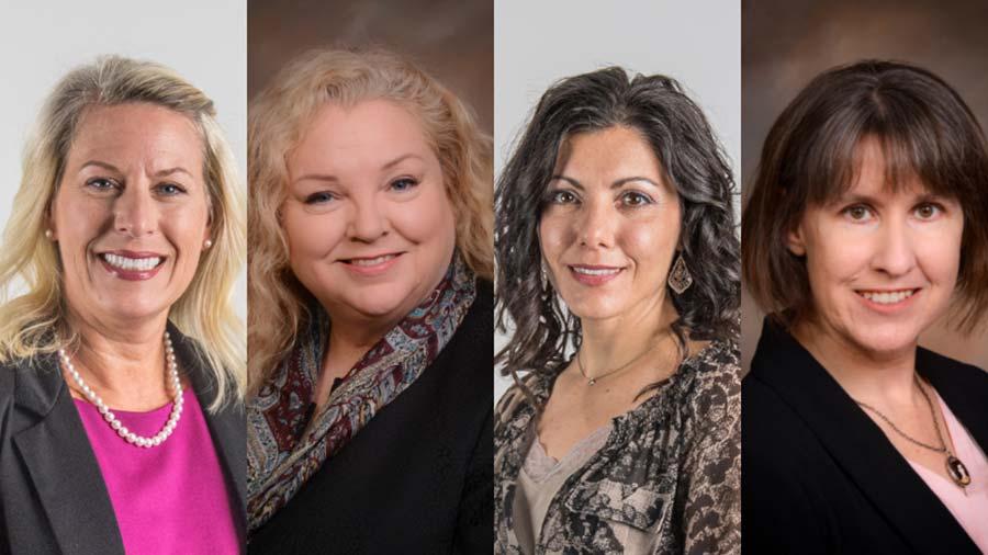 Drs. Juliet Spencer, Diana Elrod, Stephanie Pierce and Jessica Gullion
