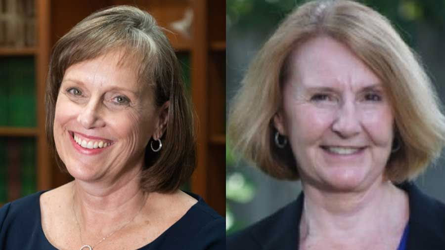 From left, Drs. Donna Scott Tilley and Wyona Freysteinson