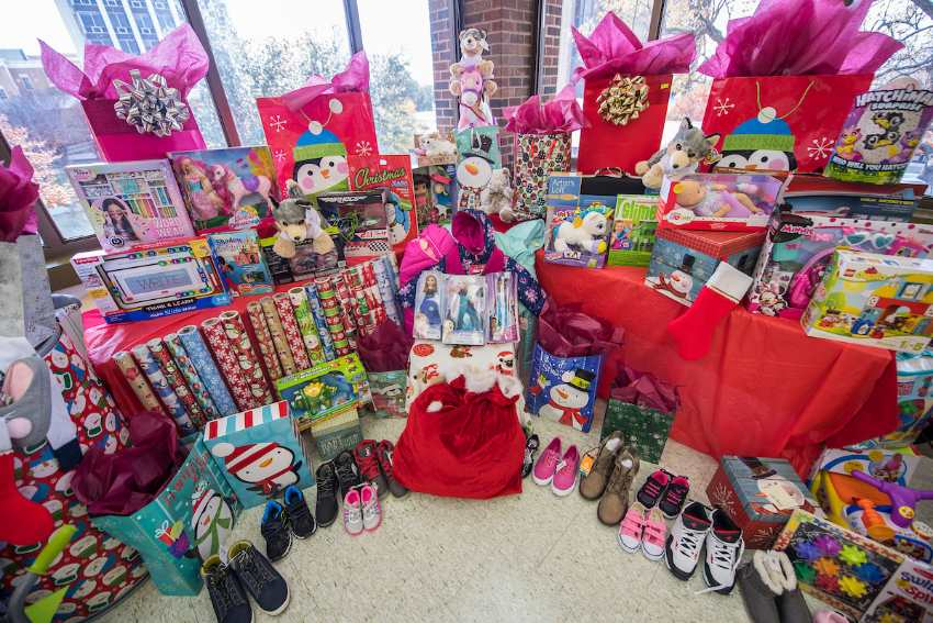 Gifts for recipients of TWU's Holiday Gift Program
