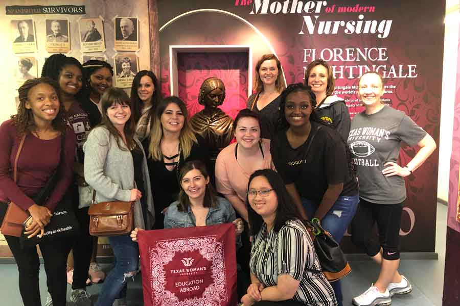 Education Abroad Students visit the Florence Nightingale Museum in London.
