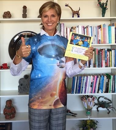 Chancellor and President Carine Feyten wears the Star Trek shirt given to her by Faculty Senate.