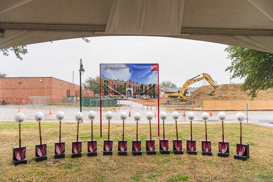 Shovels at groundbreaking ceremony
