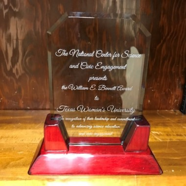 Photo of TWU's William E Bennett award