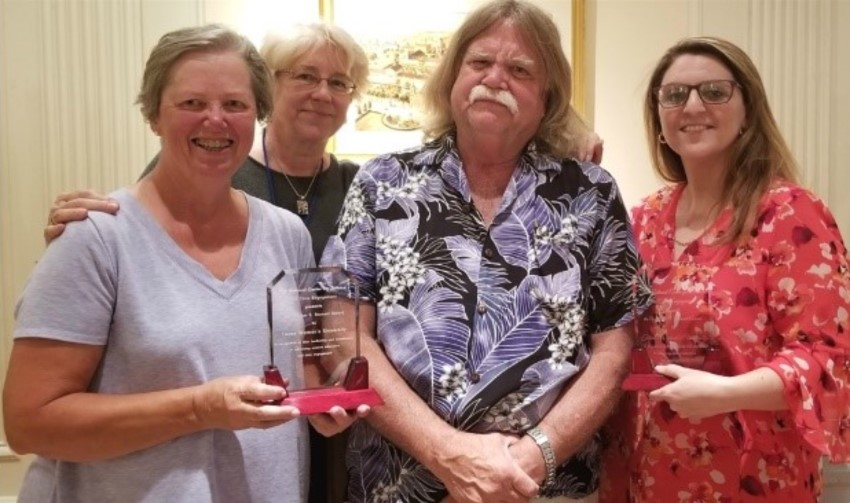 Left to right: Cynthia Maguire, Eliza Reilly (NCSCE), Richard Sheardy and Nasrin Mirsaleh-Kohan with the William E. Bennett Award.