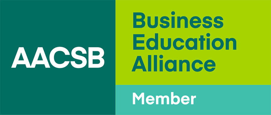 AACSB Business Education Alliance member logo.