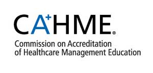 Commission on Accreditation of Healthcare Management Education logo.