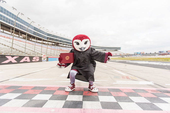 TWU Oakley crosses the finish line at Texas Motor Speedway