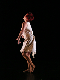 Mary Williford-Shade in a dance performance pose