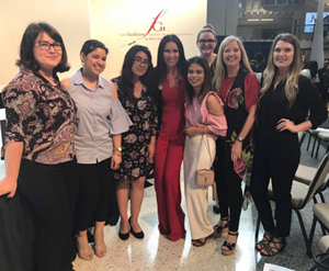 TWU entrants and winners at the 2017 Fashion Group International - Dallas Scholarship Competition