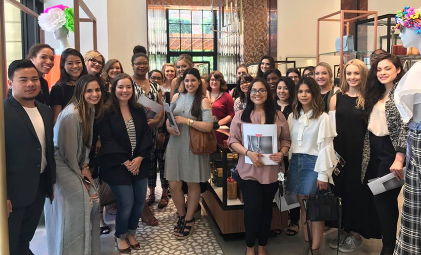 TWU students tour the Forty Five Ten luxury boutique in Dallas, TX.