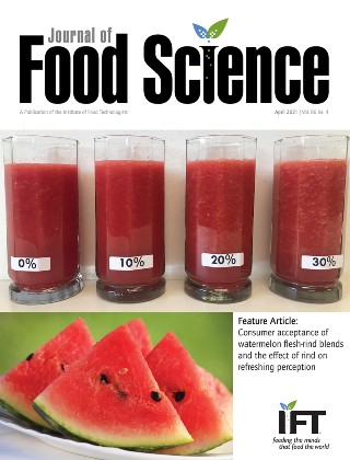 Journal of Food Science April 2021 Cover