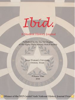 Ibid. Volume 9, Spring 2016 Journal Cover