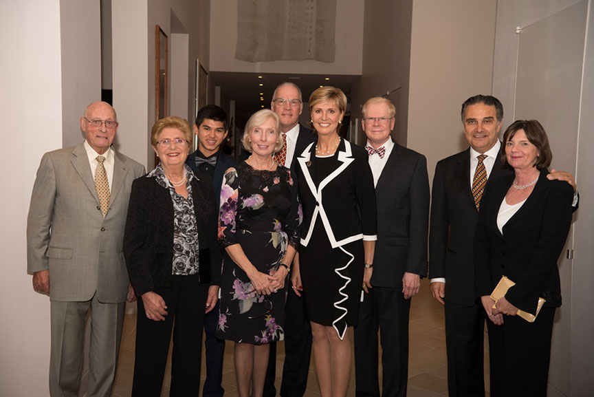 A group photo with Chancellor Feyten