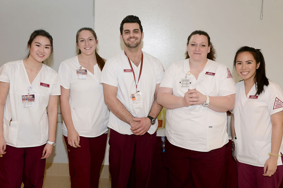 A group of Dallas TWU nursing students