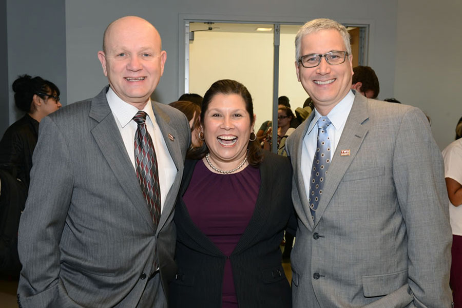 Dr. Bob Neely, Monica Mendez-Grant, and Robert Placido