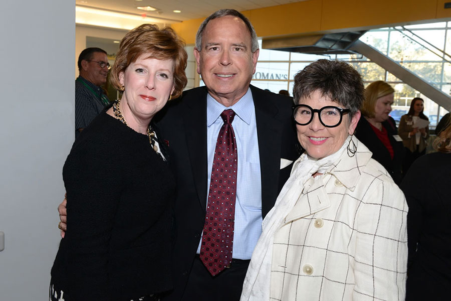 Dr. Stephanie Woods, Steve Love and Pat Driscoll