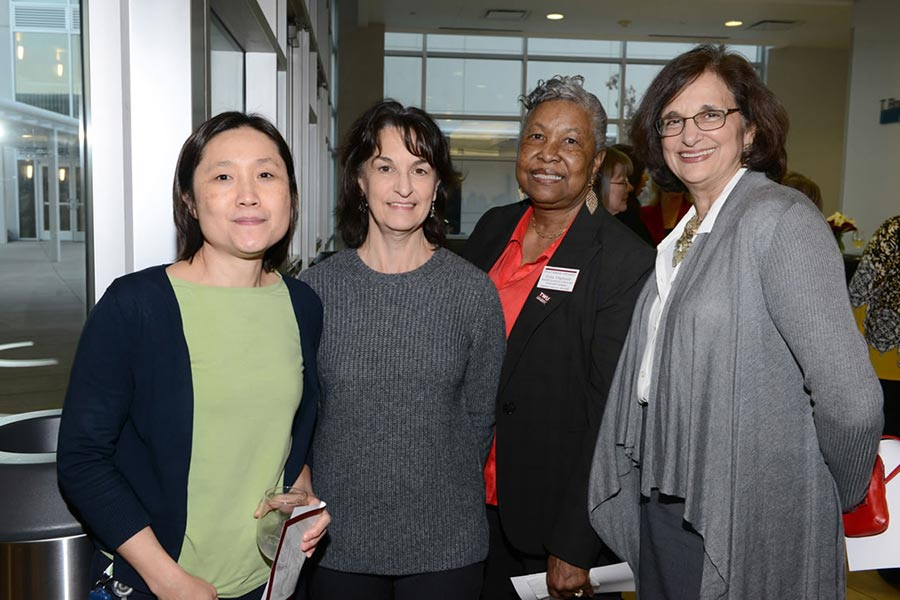A group of four women, including Dr. Elaine Jackson and Regina Campbell