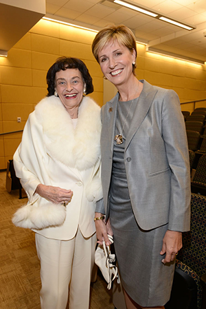 Virginia Chandler Dykes and Chancellor Carine M. Feyten